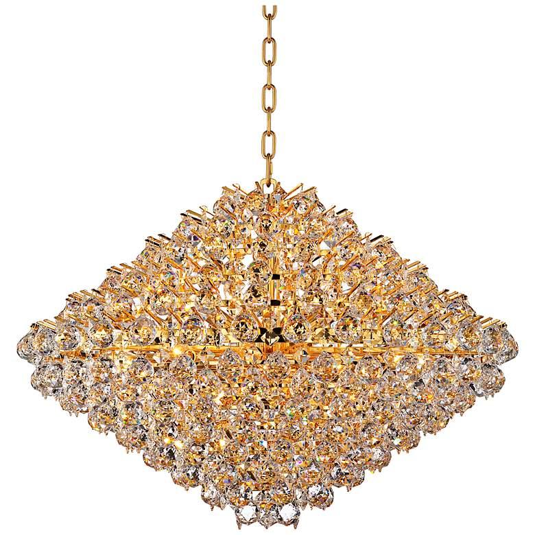 "Vienna Full Spectrum Essa 32"" Wide Gold - Crystal Pendant"