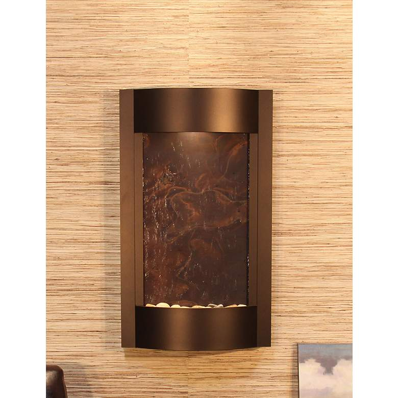 Serene Waters Featherstone Bronze Wall Fountain