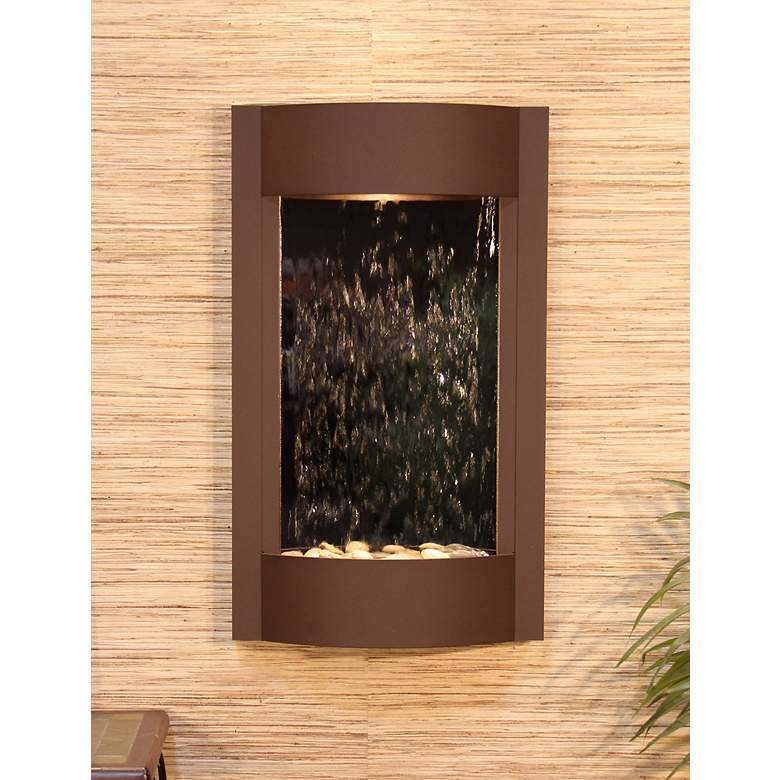 Serene Waters Mirror Brown Wall Fountain