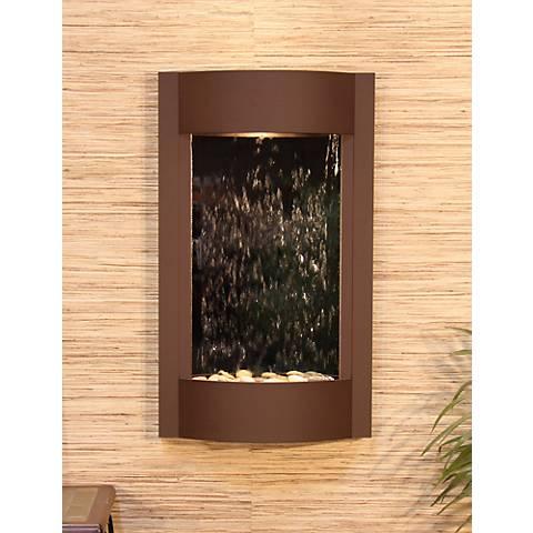 Serene Waters Mirror Brown Wall Fountain