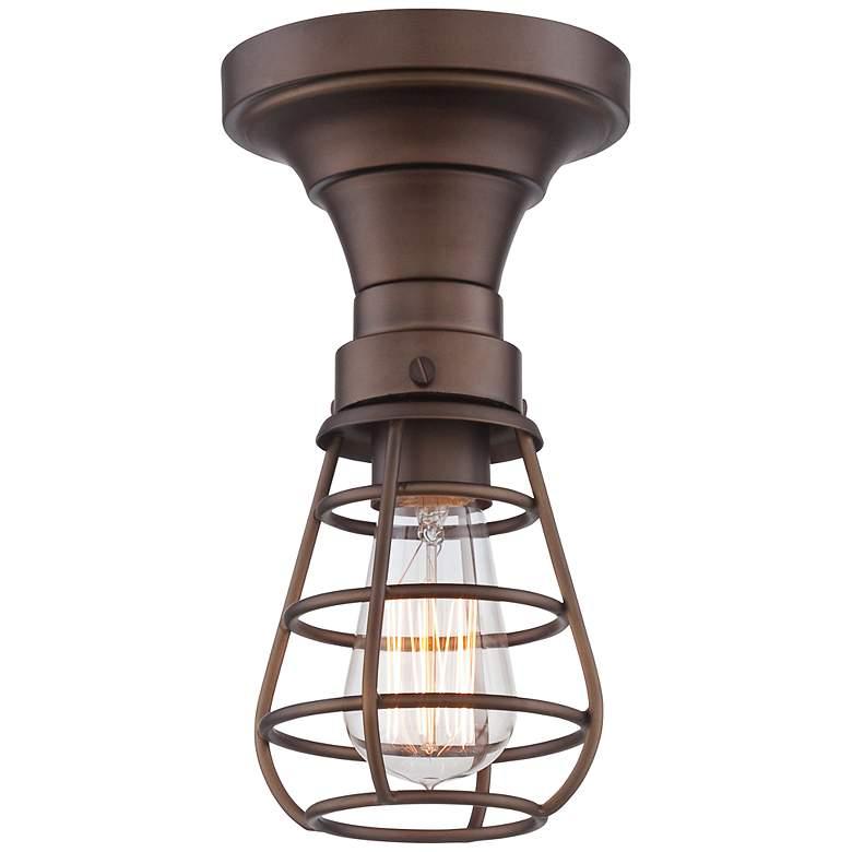 "Bendlin Industrial 5 1/2""W Oil-Rubbed Bronze Ceiling Light"
