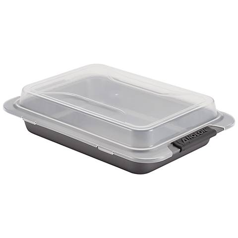 "Anolon Advanced Gray 9"" x 13"" Nonstick Covered Cake Pan"
