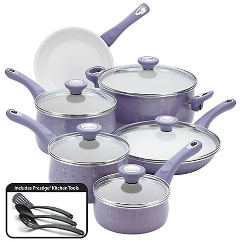 Farberware Speckled Lavender 14-Piece Cookware Set