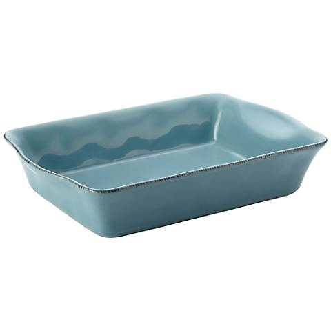 Rachael Ray Cucina Stoneware Agave Blue Rectangular Baker