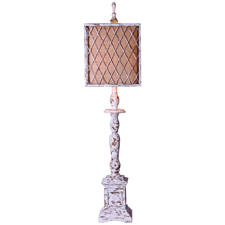 Scarborough Distressed White Table Lamp