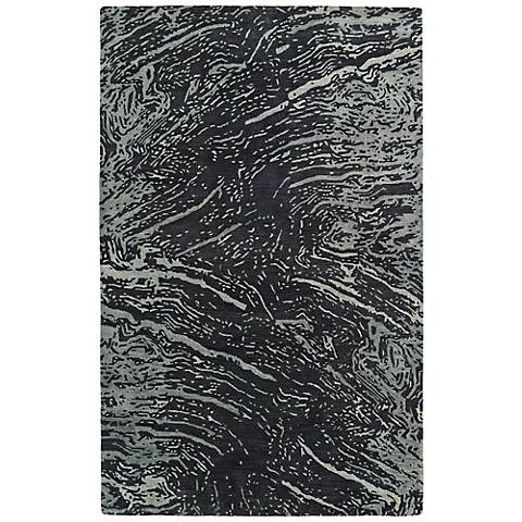 Kaleen Brushstrokes BRS01-38 Gray Wool Area Rug