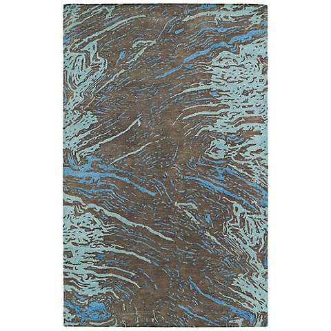 Kaleen Brushstrokes BRS01-40 Brown Wool Area Rug