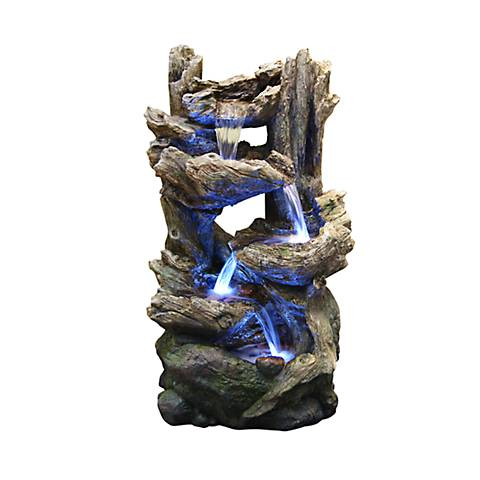 """Stacked Logs 38"""" High LED Floor Fountain"""