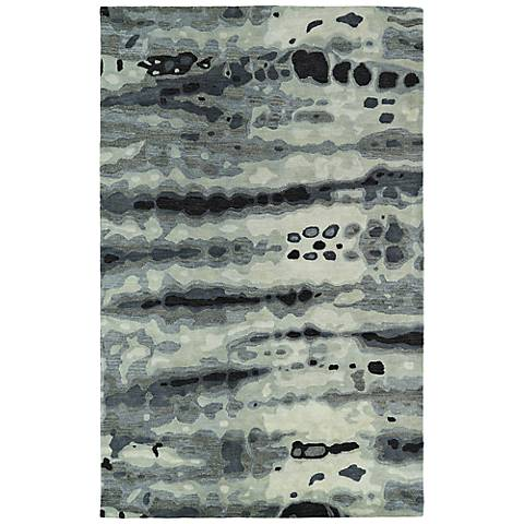 Kaleen Brushstrokes BRS03-75 Dark Gray Wool Area Rug