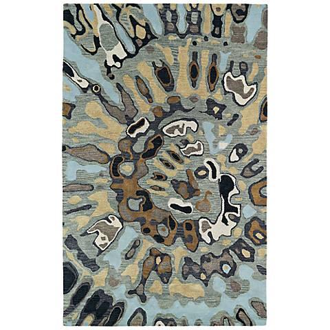 Kaleen Brushstrokes BRS04-86 Multi-Color Wool Area Rug