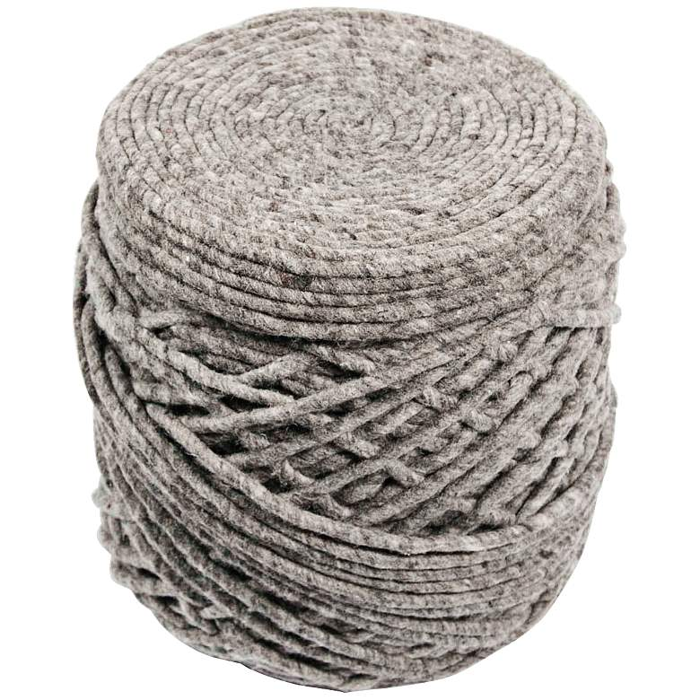 Jaipur Scandinavia Wrapped Wool Cylinder Pouf Ottoman