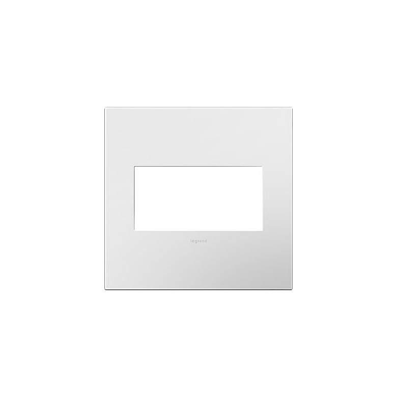 adorne® Gloss White w/ Black Back 2-Gang Snap-On