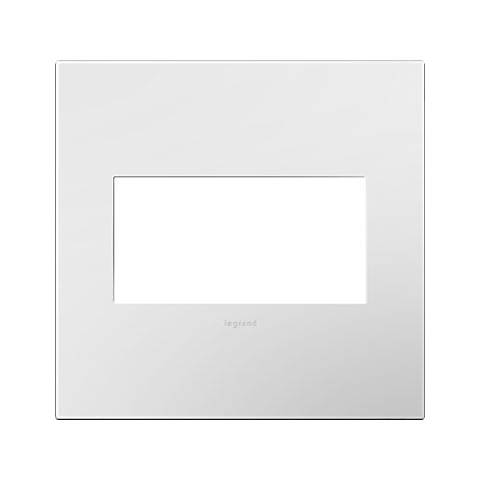 adorne® Gloss White w/ Black Back 2-Gang Snap-On Wall Plate