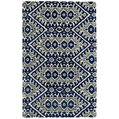 Kaleen Global Inspirations GLB01-17 Blue Wool Area Rug