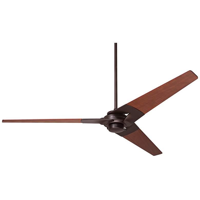 """62"""" Modern Fan Torsion Mahogany - Dark Bronze Ceiling Fan"""