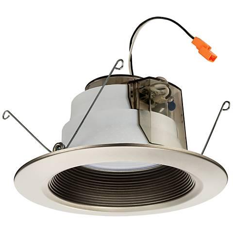 """Lithonia 6"""" Brushed Nickel Baffle 11.2 Watt LED Module"""