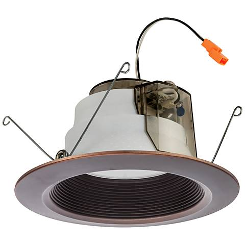 "Lithonia 6"" Rubbed Bronze Baffle 11.2 Watt LED Module"