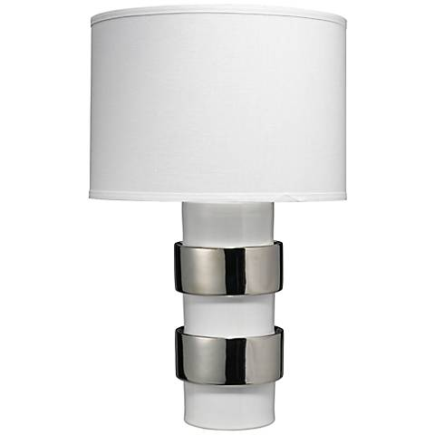 Jamie Young Nash Silver Ceramic Table Lamp