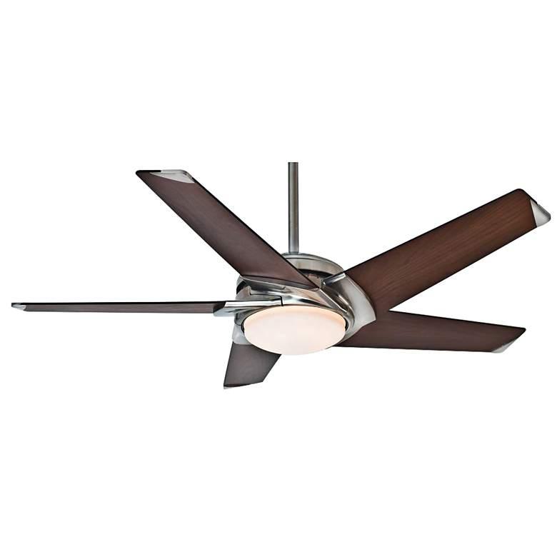 "54"" Casablanca Stealth DC Brushed Nickel LED Ceiling Fan"