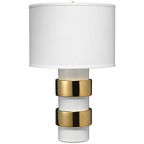 Jamie Young Nash Gold Ceramic Table Lamp