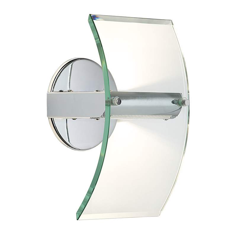 """Arc Panel 12"""" High Glass and Chrome Wall Sconce"""