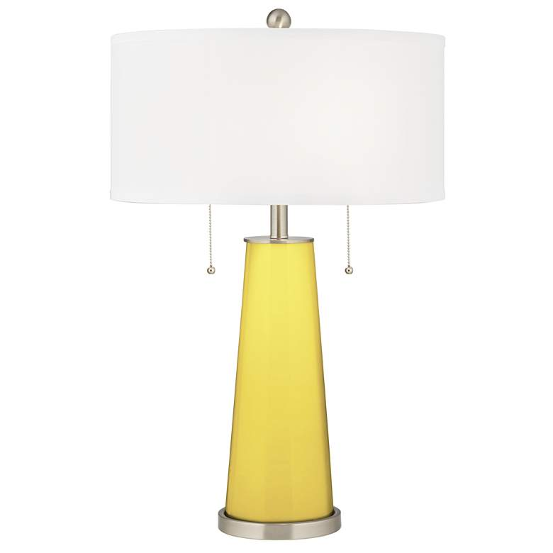 Lemon Twist Peggy Glass Table Lamp With Dimmer