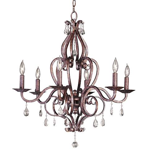 Feiss Mademoiselle Collection Six Light Chandelier
