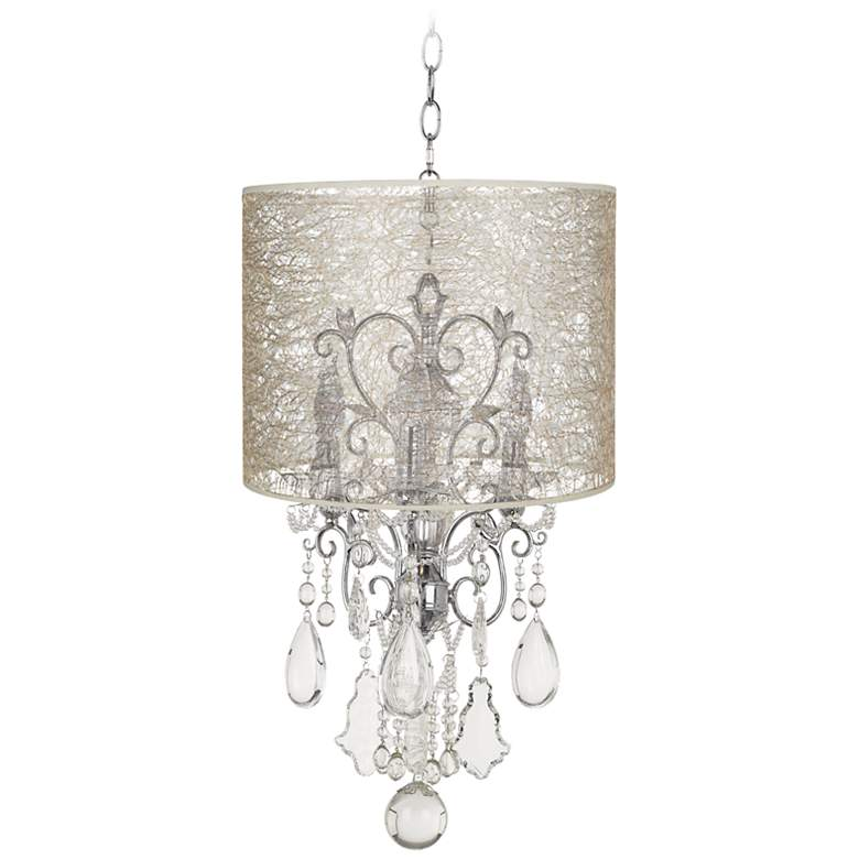 Belle of the Ball Designer Lace Shade Mini Chandelier