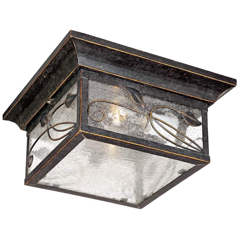 """French Garden 11"""" Wide Bronze Indoor-Outdoor Ceiling Light"""