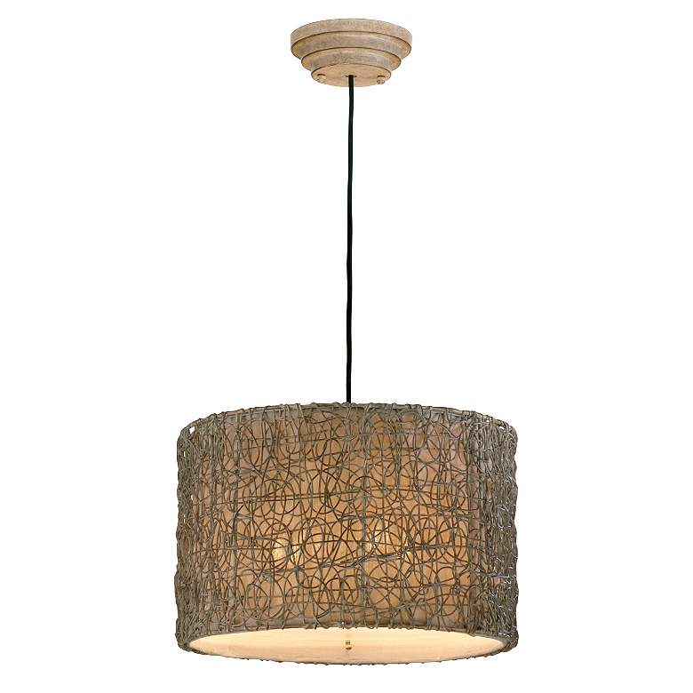 Naturals Knotted Rattan Pendant Chandelier