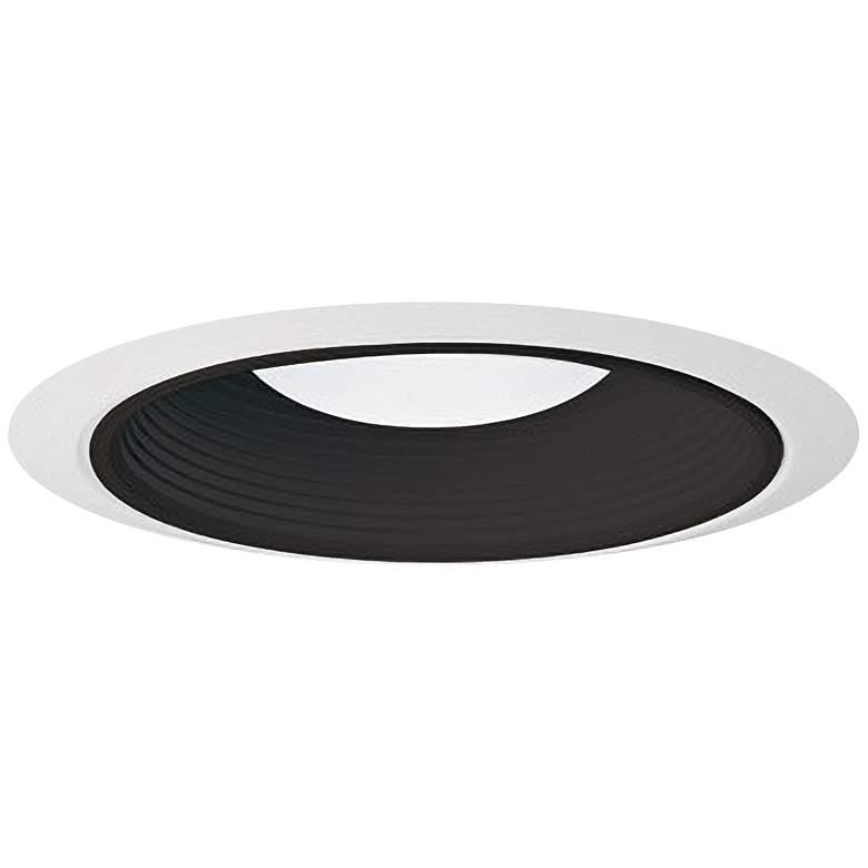 "Juno 6"" Ultra Trim Black Baffle Enclosed White Trim"