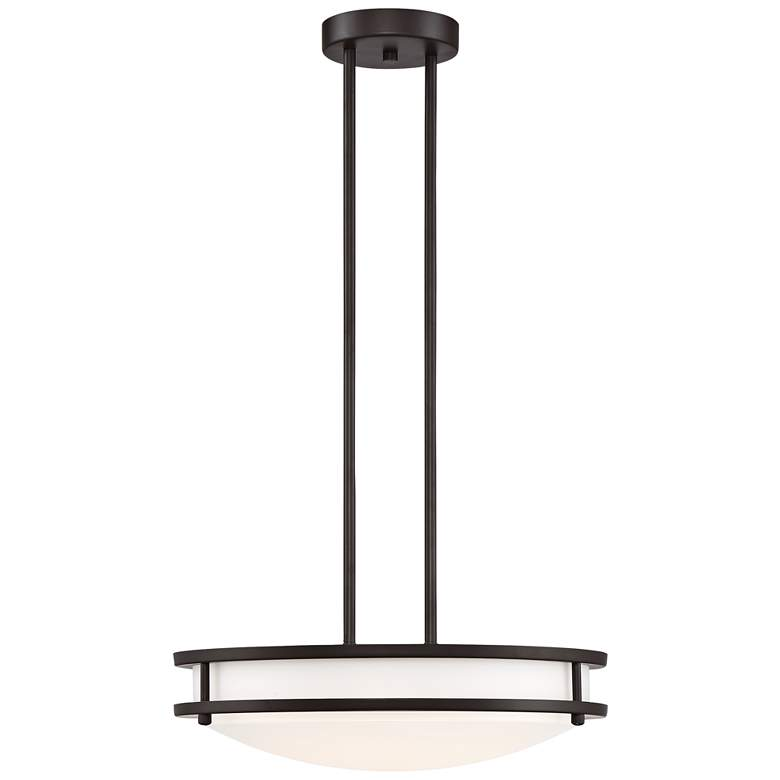 "Solero 16"" Wide Bronze LED Pendant Light"