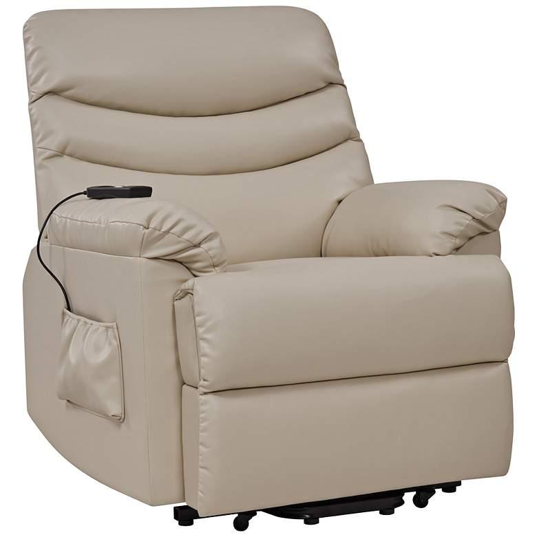 ProLounger Cream Renu Leather Power Lift Recliner Chair