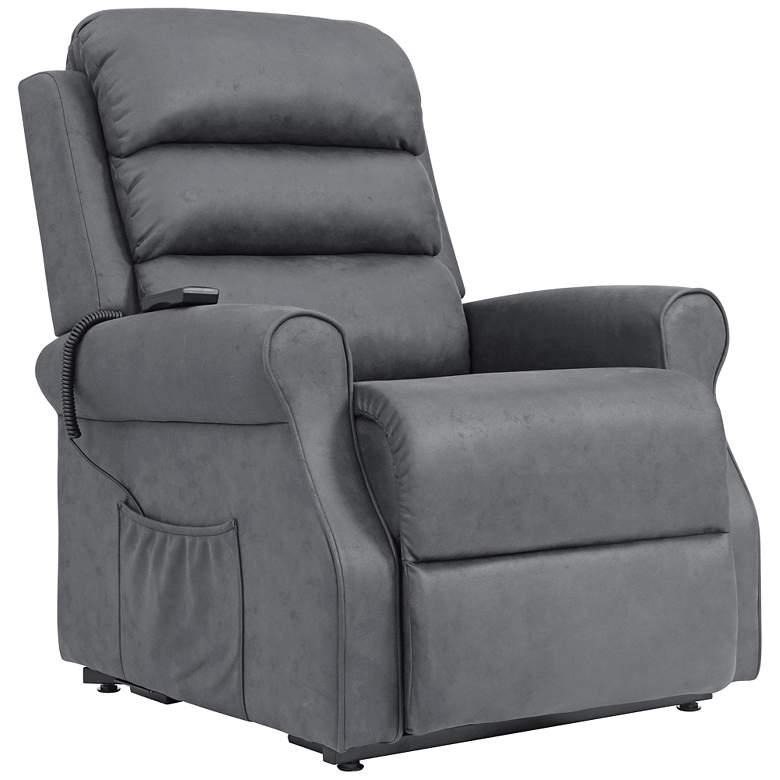 ProLounger® Slate Nubuck Suede Power Lift Recliner Chair