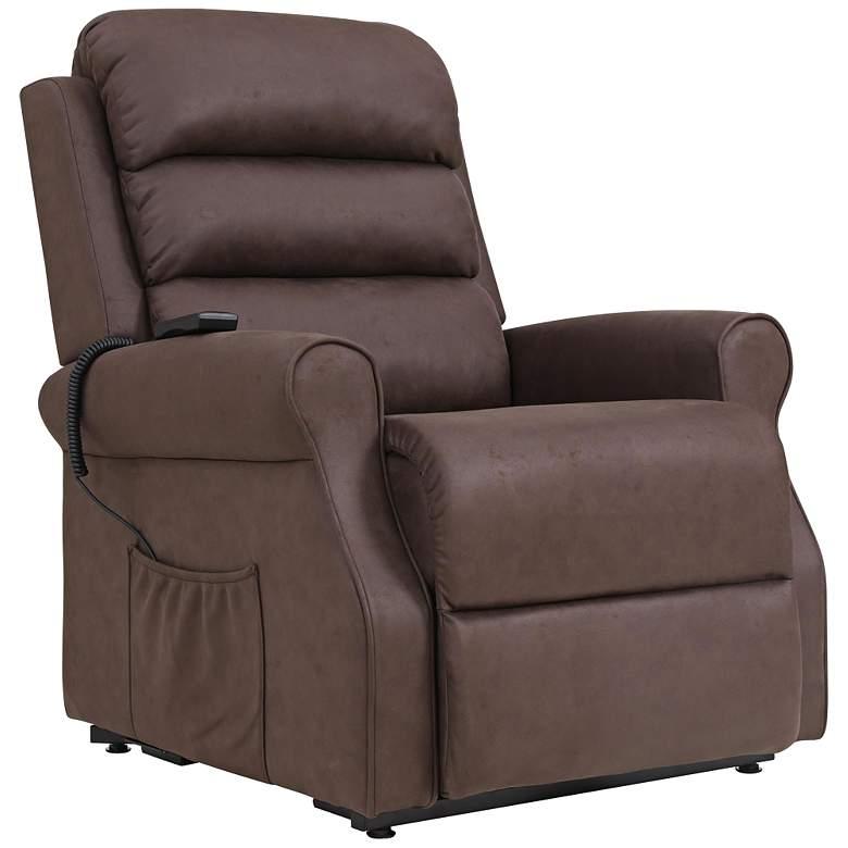 ProLounger® Chocolate Nubuck Power Lift Recliner Chair