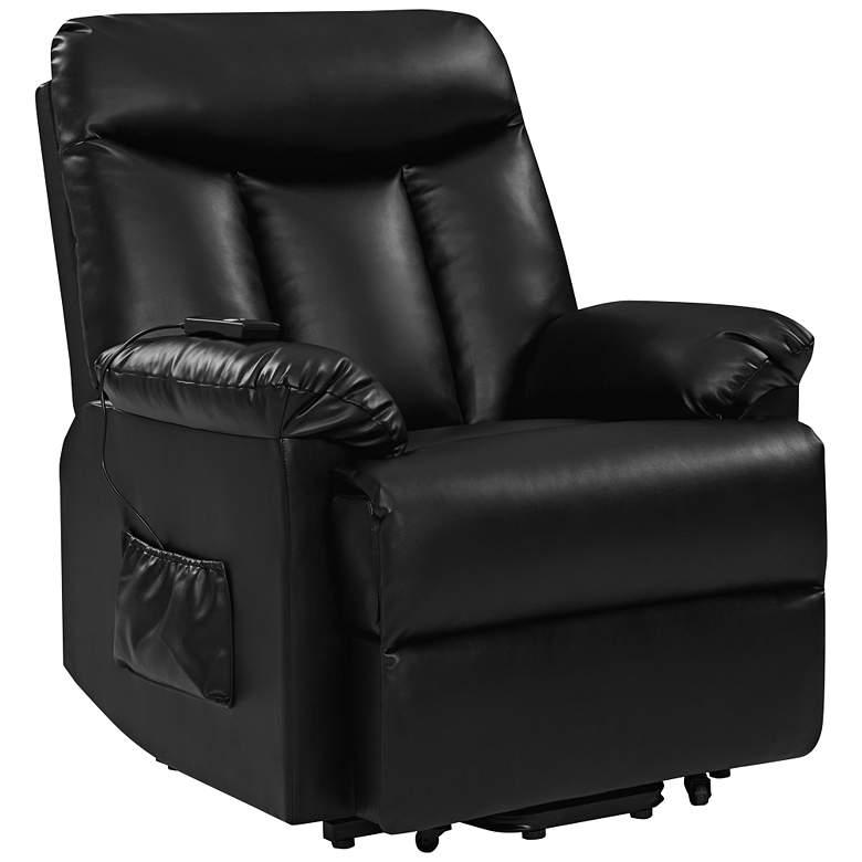 ProLounger® Black Renu Leather Power Recline Lift Chair