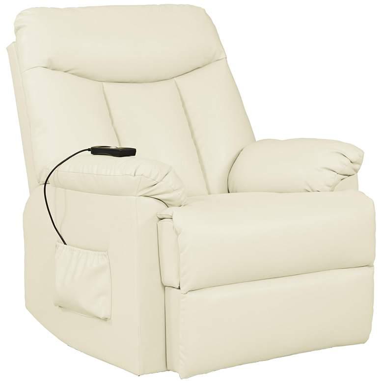 ProLounger Cream Renu Leather Power Lift Reclining Chair