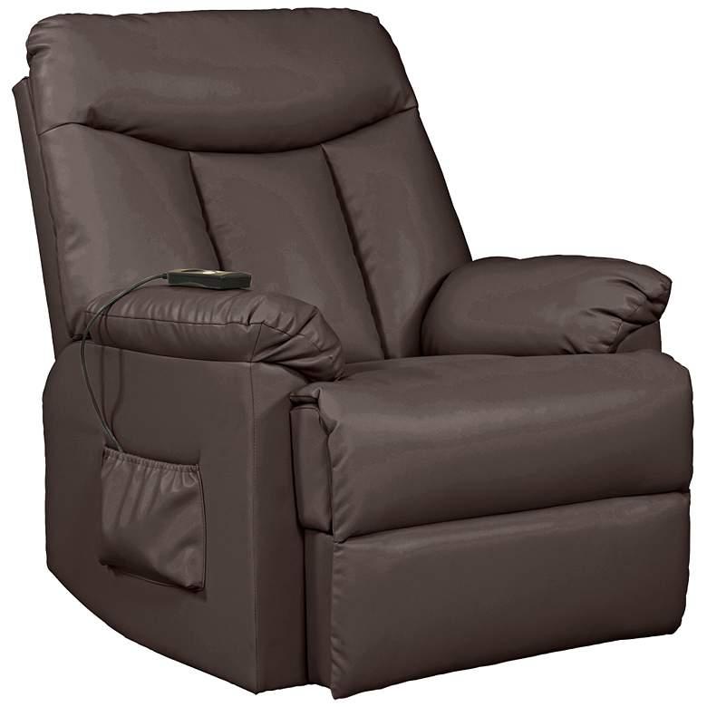ProLounger® Brown Renu Leather Power Recline Lift Chair