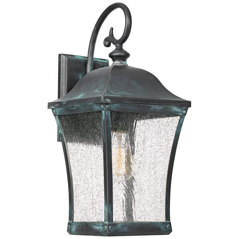 "Quoizel Bardstown 18"" High Aged Verde Outdoor Wall Light"