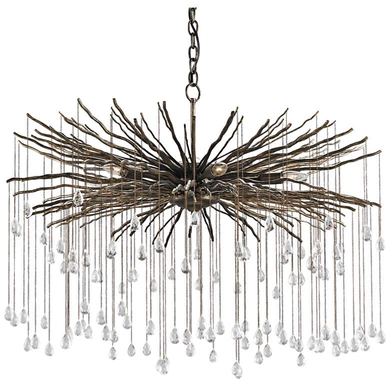 "Currey and Company Fen 38"" Wide Cupertino 6-Light Chandelier"