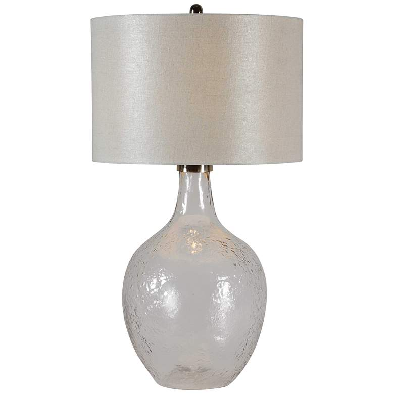Ruthanne Polished Nickel w/ Glass Urn Table Lamp