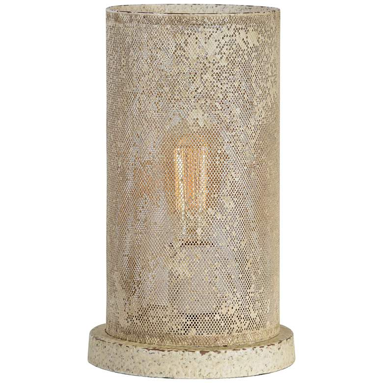 """Suzanna 13"""" High Cottage White Uplight Accent Table Lamp"""