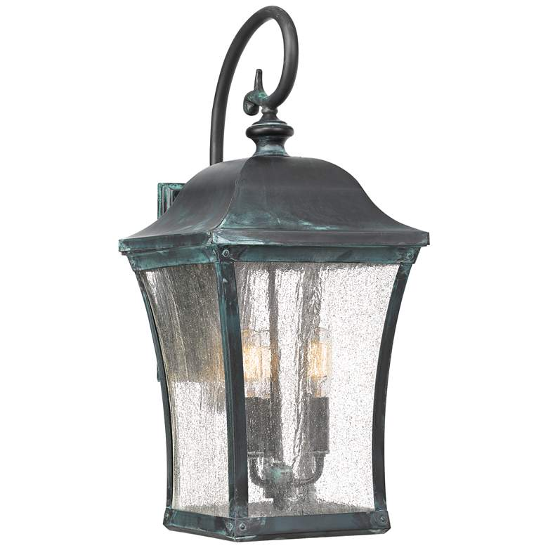 """Quoizel Bardstown 22 1/2"""" High Aged Verde Outdoor Wall Light"""