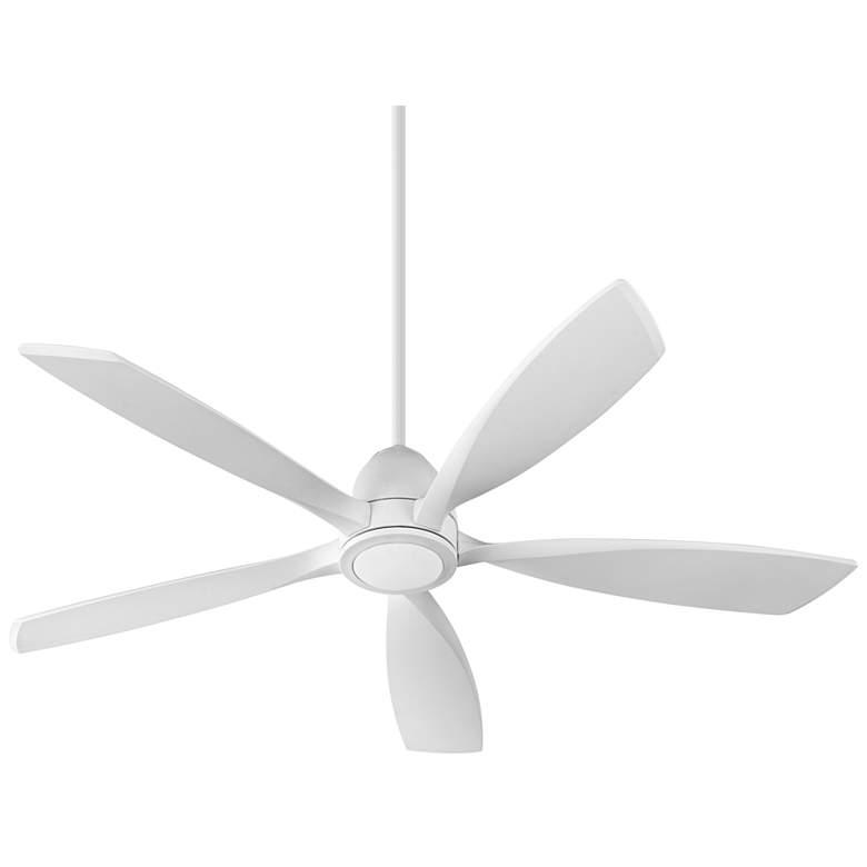 """56"""" Quorum Holt Studio White LED Ceiling Fan"""