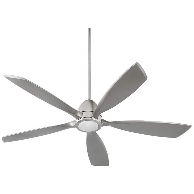 "56"" Quorum Holt Satin Nickel LED Ceiling Fan"