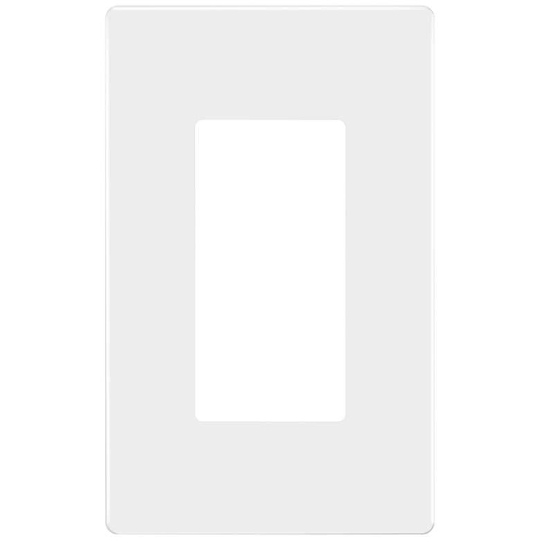 Tesler White 1 Gang Screwless Faceplate