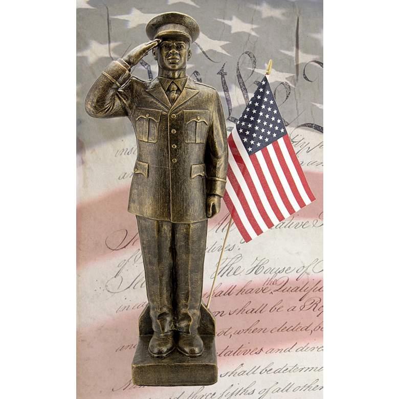 "Army Dress Uniform - African American 30"" High Bronze Statue"