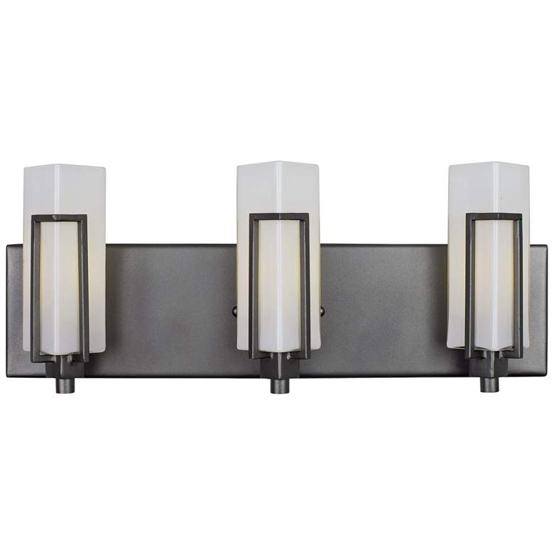 "Highlander 18 1/2"" High Rustic Bronze 3-Light Bath"