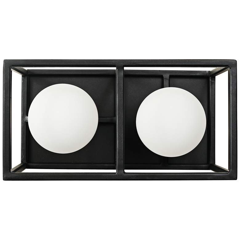 """Plaza 5""""H Carbon and Havana Gold 2-Light LED Wall Sconce"""