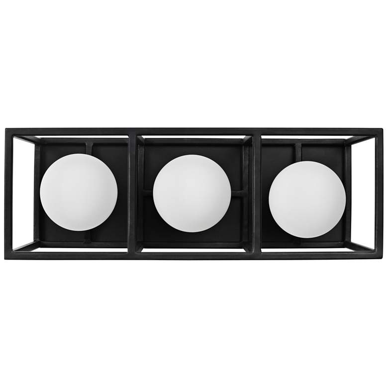 "Plaza 14 1/2"" Wide Carbon and Gold 3-Light LED Bath Light"